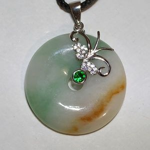authentic type a natural color lucky green jade